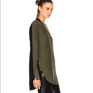 NWT Rag & Bone Leighton Colorblock Silk Shirt